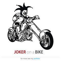 Joker on a bike