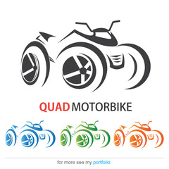 Quad MotorBike, Vector, Sign, Symbol,