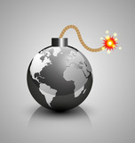 World crisis bomb icon