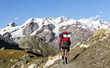 trekking in montagna,monte rosa,valle d'aosta,italia