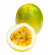 Passion fruit, completely isolated on white backgrounds