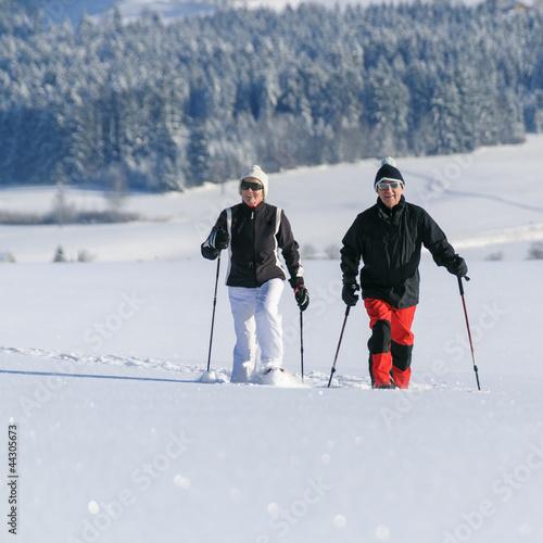 fröhliche Schneeschuhtour