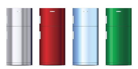 Colored refrigerators set