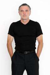 Mann in T-shirt