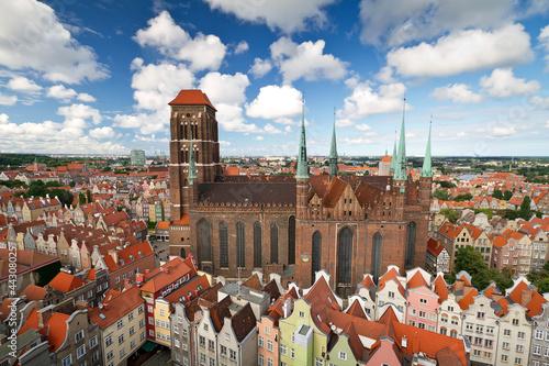 Zdjęcia na płótnie, fototapety na wymiar, obrazy na ścianę : St. Mary's Cathedral in old town of Gdansk, Poland