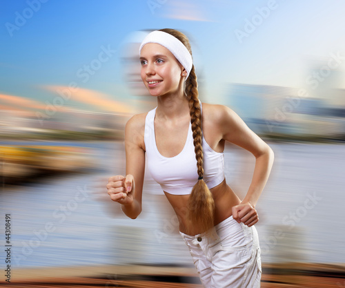 Portrait of a young woman doing sport