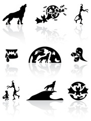Black Halloween icons
