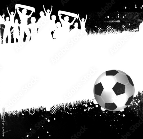 football background with football ball and place for text