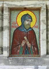Mosaic ikon of Alexander Nevsky