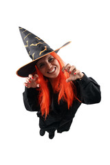 Witch cast spell on