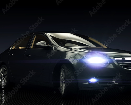Black Car with Light