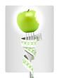 Alimentation équilibrée - fourchette et pomme