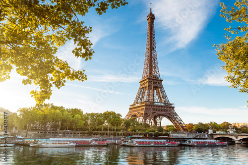 Deurstickers Openbaar geb. Tour Eiffel Paris France