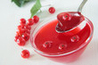 Red currant jelly with berries