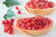 Bread with crushed red currant