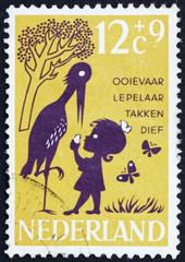 Postage stamp Netherlands 1963 Storky, Storky, Billy Spoon, Nurs