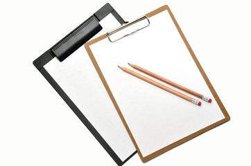 クリップボード と鉛筆