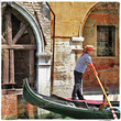 Venetian gondoliere, artistic picture