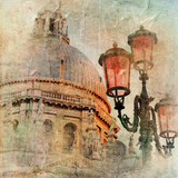 Venice? cathedral and lanterns - artistic picture