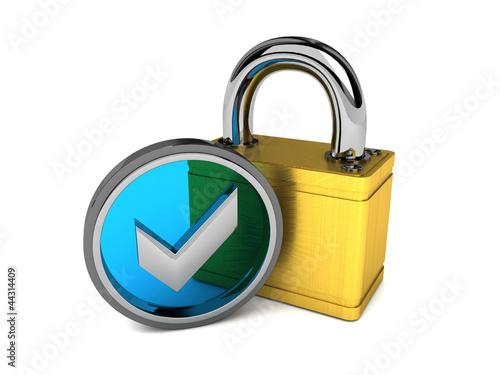 geprüfte Sicherheit blau/gold