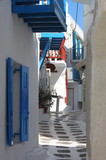 Urban scenic of Mykonos poster