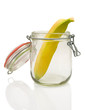 Banane im Glas