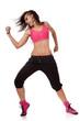 stylish hip-hop dancer showing biceps