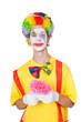 Clown mit pinker Blume