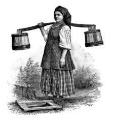 Woman : traditional EastEuropean Peasant