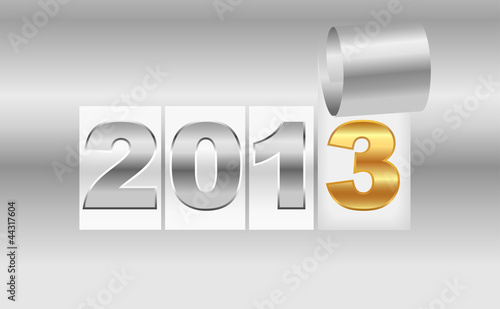 New Year's  2013 metallic background