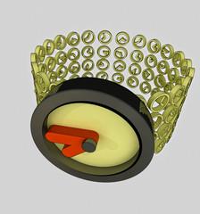 close up on modern golden watch concept