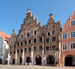Hausfassaden in Landshut