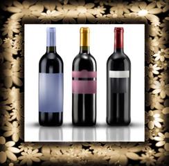 vino rosso in cornice