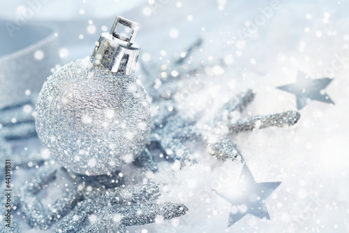 Cold wintery Christmas background - 44319831