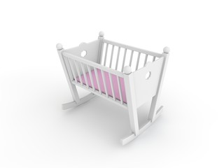 white crib for baby girl