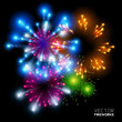Beautiful Vector Fireworks. {