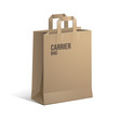 Carrier Paper Bag Brown Empty eps 10