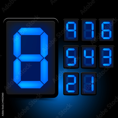 Digital LED Numbers
