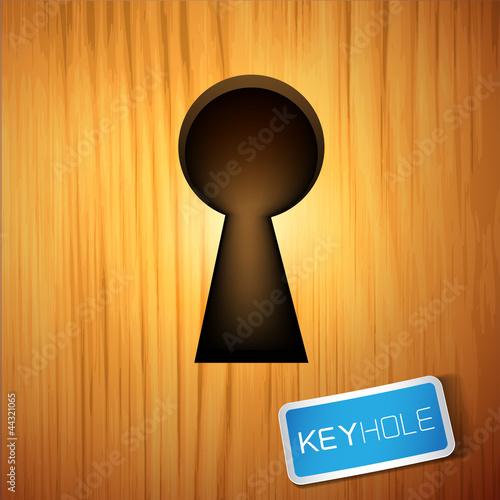 A wooden Keyhole