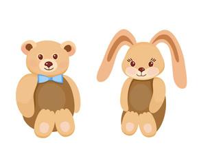 Plush animal toys