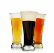 Alcohol Beer Glasses on White