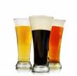 Alcohol Beer Glasses on White