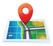 Modern gps map icon