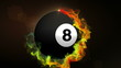 Number 8 Billiard Ball - HD1080