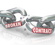 Broken Contract Chain Links Separated Ending the Agreement