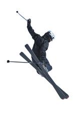 Ski jumper in black