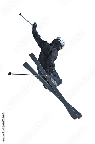 Ski jumper in black