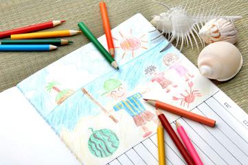 夏休みの絵日記