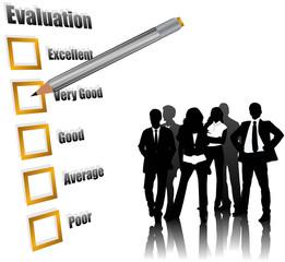 Bewertung Menschen Büro