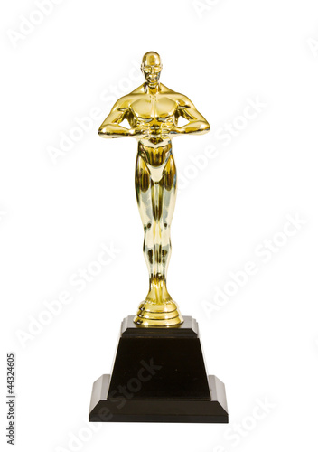 Leinwanddruck Bild gold trophy